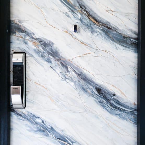 Light Grey Marble Epoxy Door
