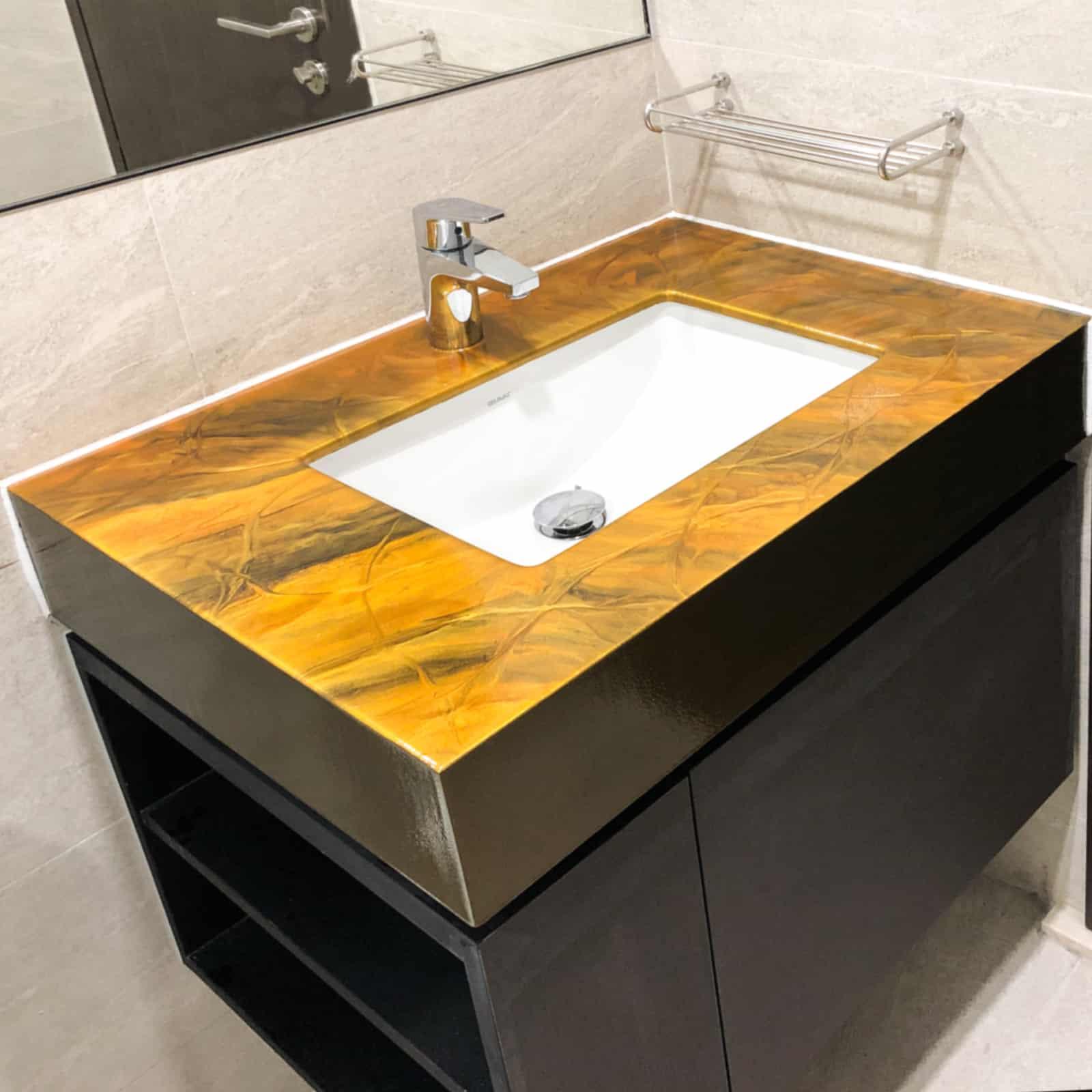 Golden Brown Design Vanity Top