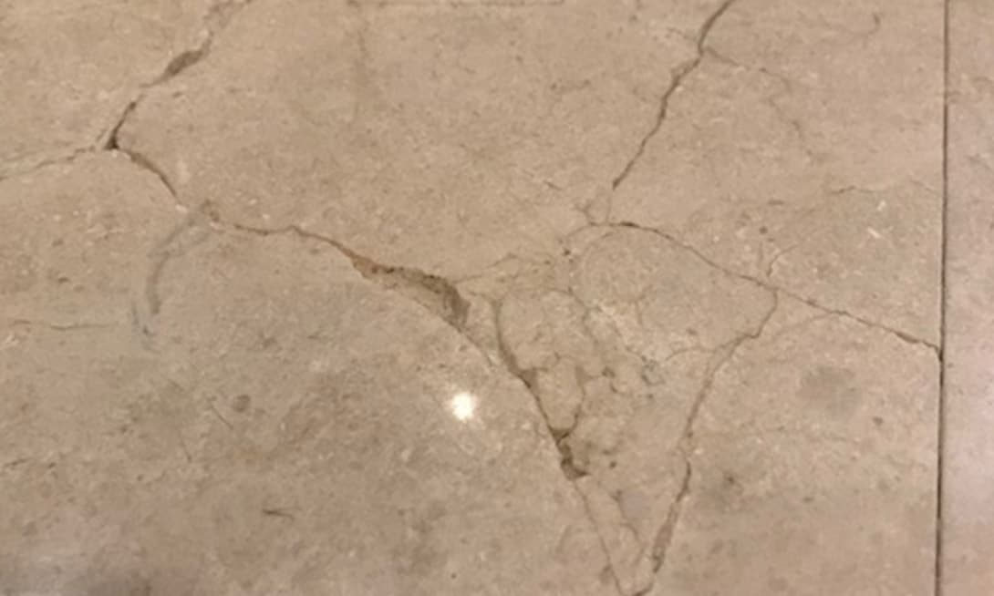 cracked marble tiles
