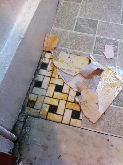 old vinyl floor peel