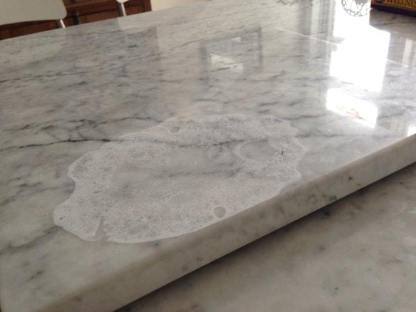 watermarks marble countertop