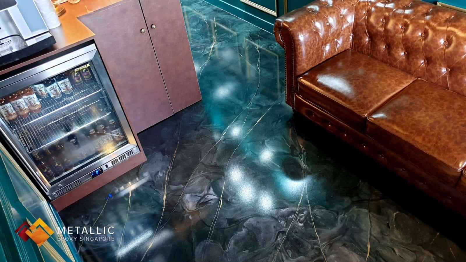 Electric Blue Galaxy Flooring