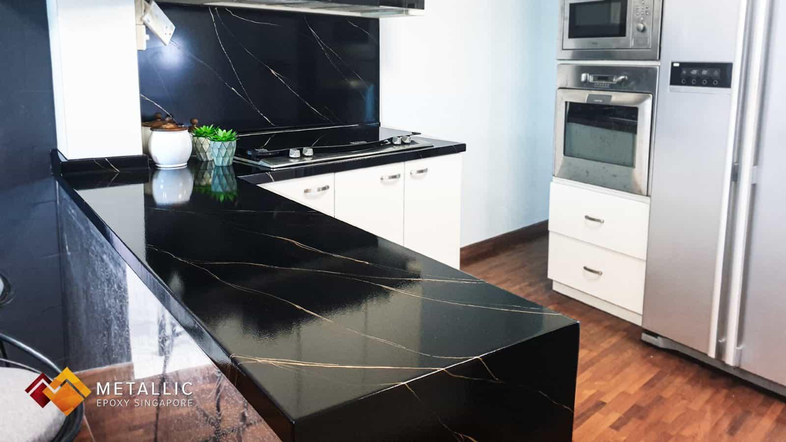 Black Gold Vein Countertop