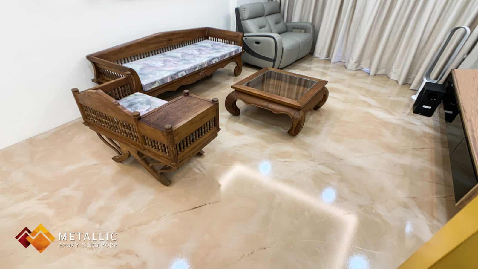 Natural Epoxy Flooring Rose Gold